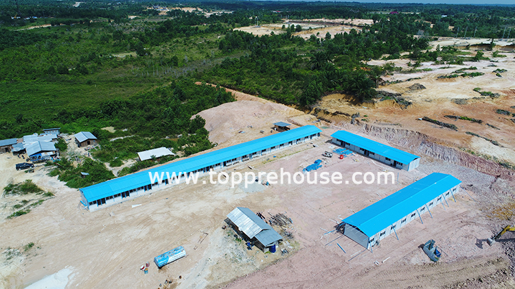 TOPPRE sandwich panel k house in Indonesia
